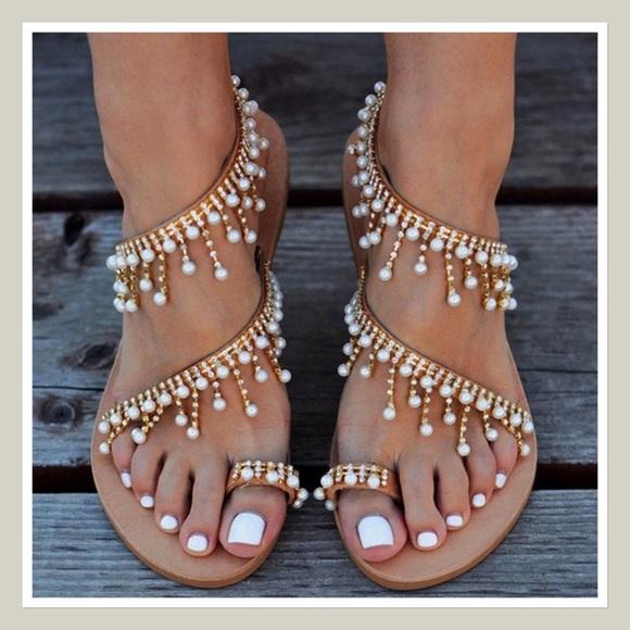 cbdf38739 Vintage Boho Sandals. M 5c79668f4ab633f17d103b9c